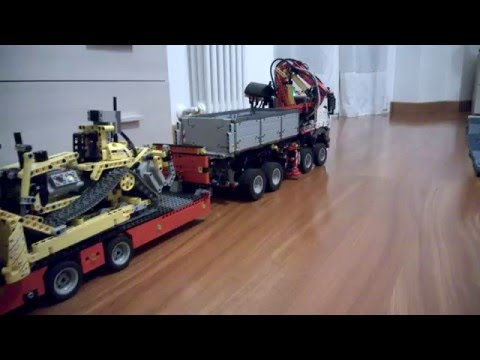 lego technic 42043 mercedes benz arocs 8x4 3245 rc - youtube