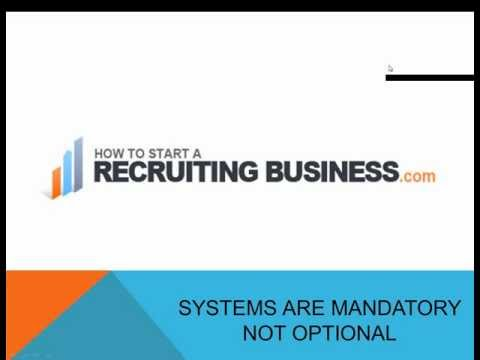 In a Staffing and Recruiting Firm - Systems Are Mandatory Not Optional