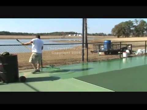 How To Paint A Tennis Court