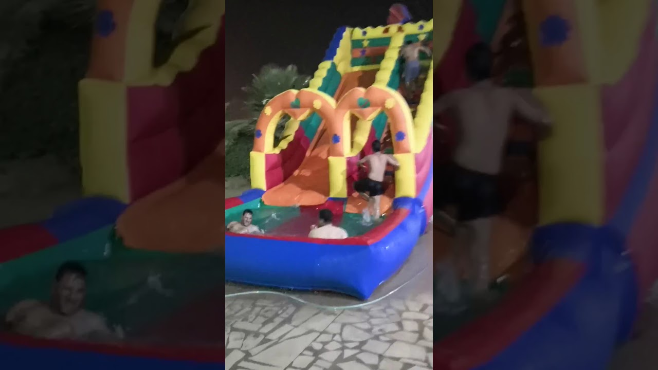 زحليقه مائية مسبح للايجار زحاليق ونطيطات وملاعب صابونيه - دنيا المرح الرياض 0533001004