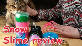 SLIME REVIEW OF BUDGET SNOW SLIME & CAT MAINE COON & LONG NAIL