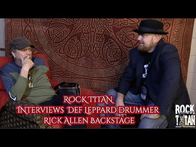 Rick Allen EXCLUSIVE backstage interview on tour with Def Leppard and Journey