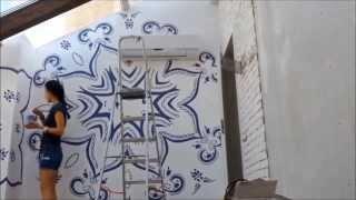 Как нарисовать орнамент на всю стену. Рисуй со мной.