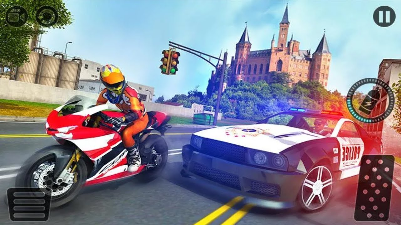 Motorcycle Escape Police Chase Game Motorcycle Vs Police Car Game