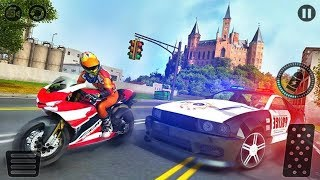 Motorcycle Escape Police Chase Game: Motorcycle VS Police Car Game Android gameplay