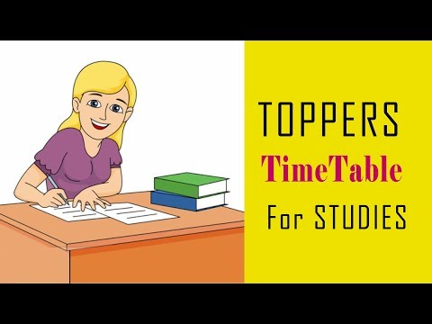 HOW TOPPERS MAKE THEIR TIMETABLE ||#weekdaytimetable #studymotivation #studyhacks#ABetterLife