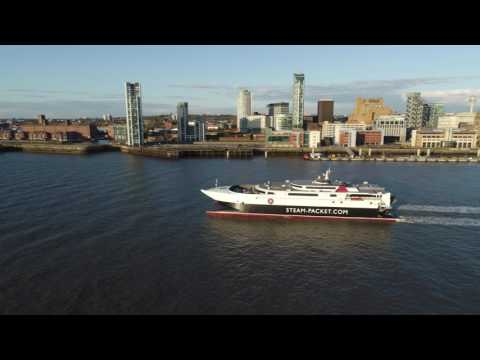 Liverpool Waterfront | Wirral to Liverpool | 4K | Dji Phantom 4 Pro | Chasing The Isle Of Man Ferry