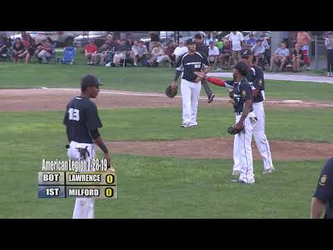 Milford Legion Baseball - 2019 Zone 4 Finals: Gm 2 Vs Lawrence