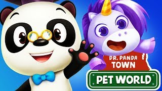 Fun Animal Pet Care Games - Theme Park Dress Up, Horses, Kitten Dr. Panda Pet World App For Kids