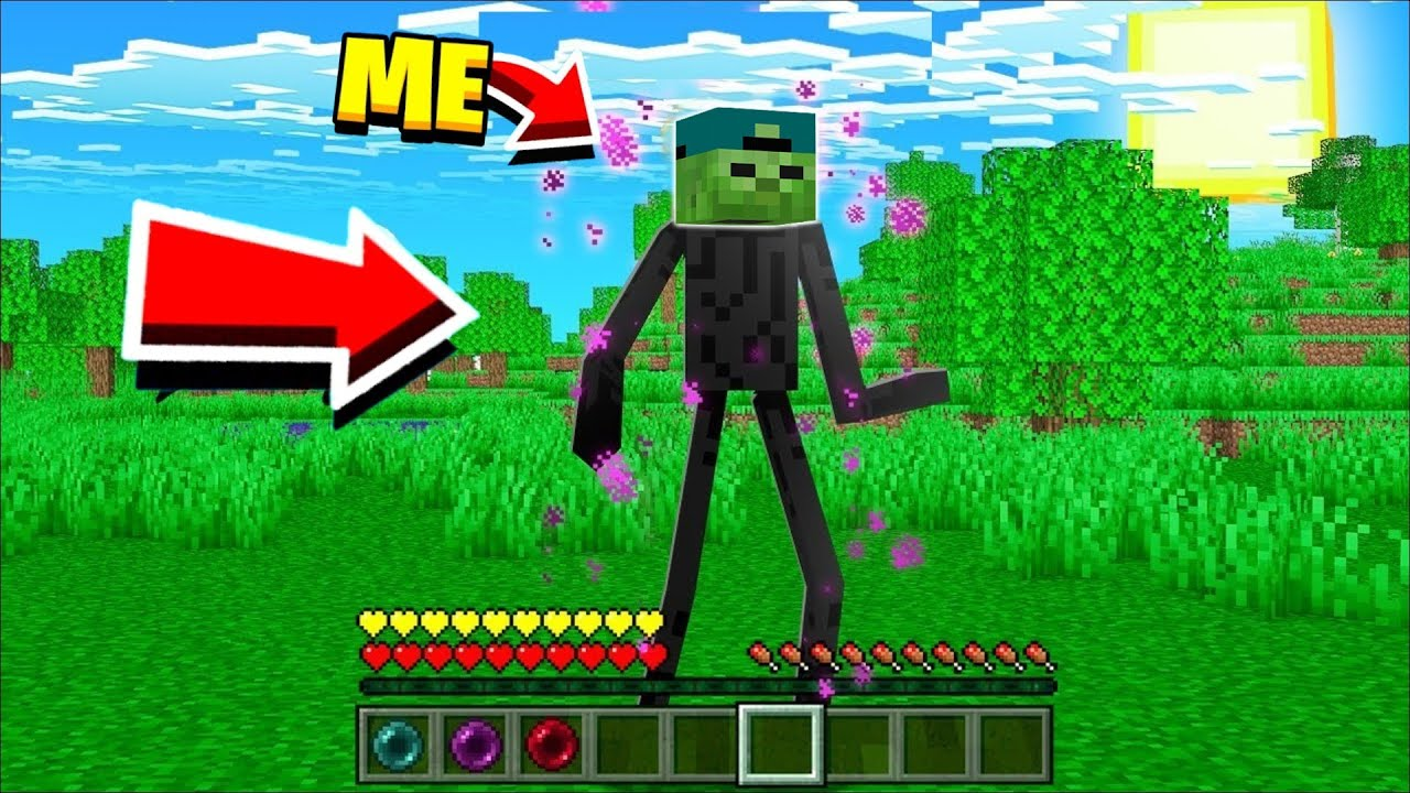 Becoming A EnderMan In Minecraft (awesome) !!