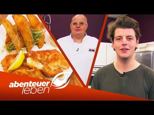 Serienstar Anno vs. Koch: Kann er Backfisch ohne Rezept zubereiten? | Abenteuer Leben | kabel eins