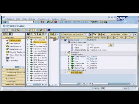 12. Activating an InfoCube in SAP Business Intelligence / Business Warehouse ( BI / BW )