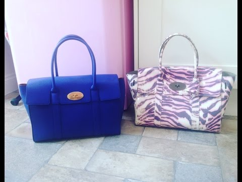Review of new mulberry large Bayswater vs old Bayswater bag & what u can fit in it & how it carrys