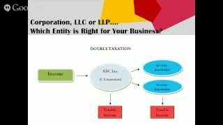 Webinar: Corporation, LLC or LLP.... Which Entity is Right for Your Business?
