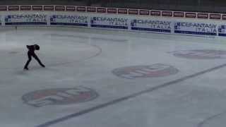 Daisuke Murakami free skating at Merano Cup, Meran, Italy on 17.11....