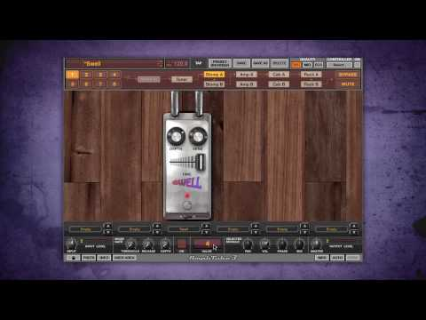 More creative effects with AmpliTube 3 guitar recording software - Swell auto volume processor