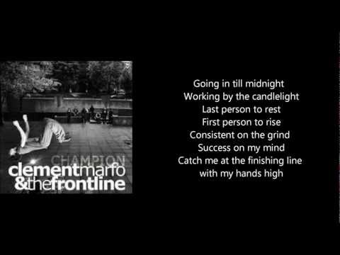 Champion - Clement Marfo and The Frontline - Lyrics