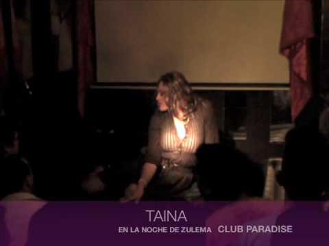 TAINA!! EN LA NOCHE DE ZULEMA CLUB PARADISE CONCEPCION CHILE - YouTube