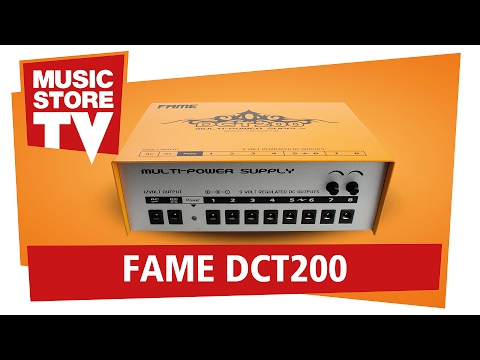 FAME DCT-200 effect pedal Multi-Power Supply // Review