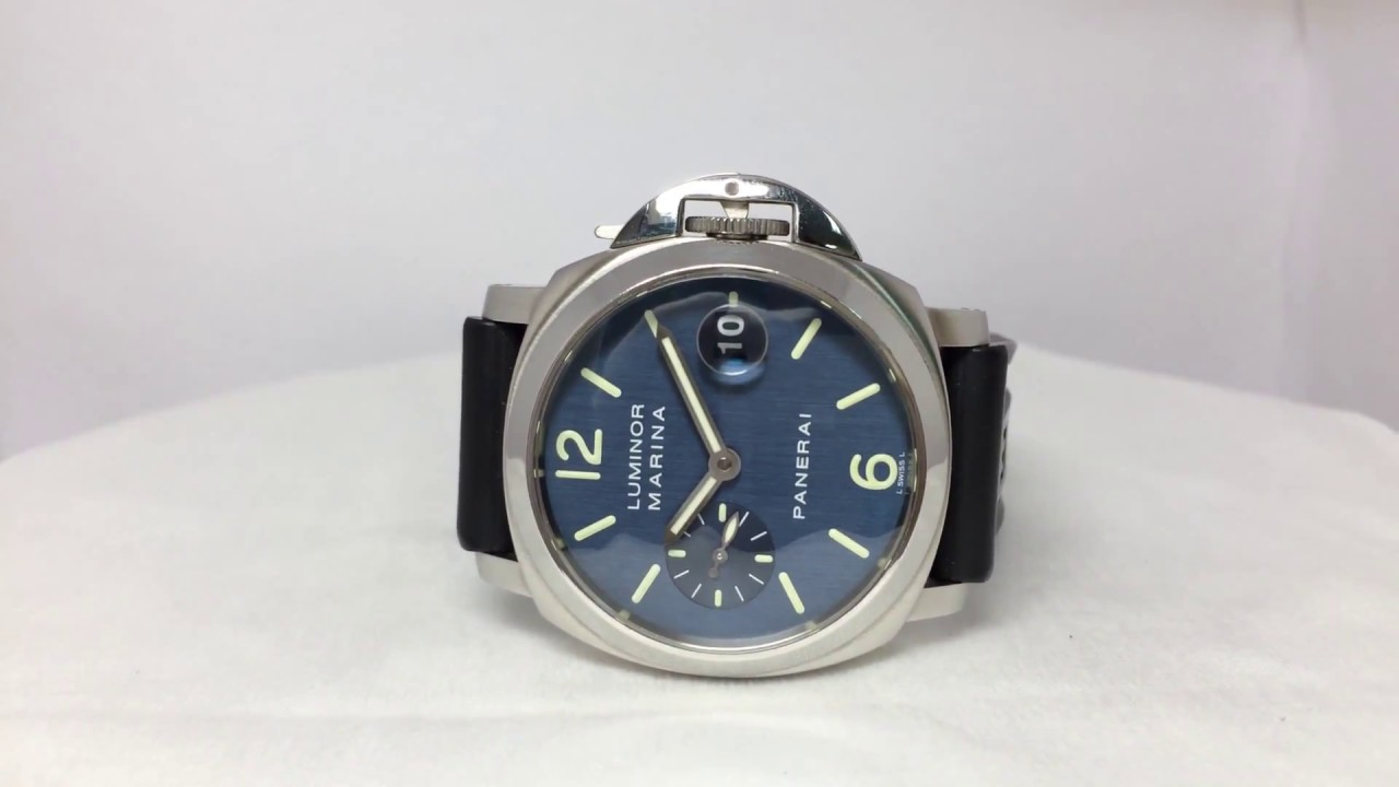 newest cf84d c4804 Panerai Luminor Marina Blue Dial PAM00119 沛納海 파네라이 パネライ