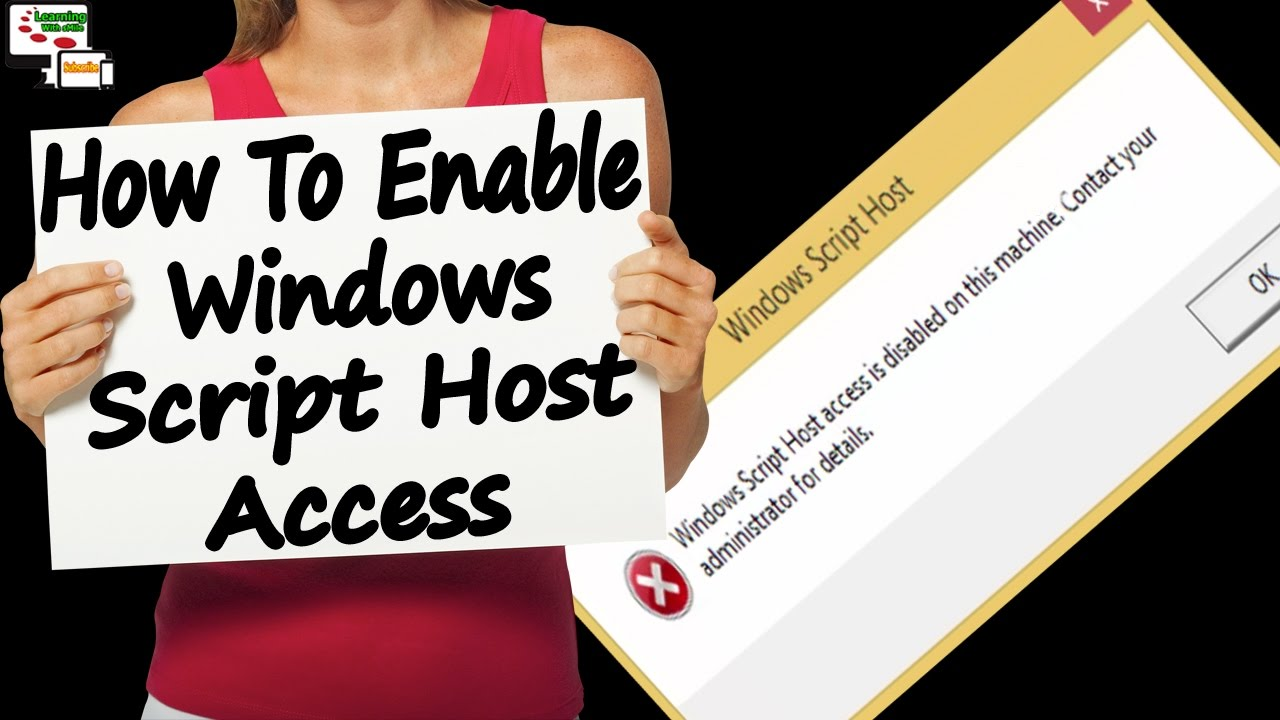 How to fix windows script host access is disable on this machine how to fix windows script host access is disable on this machine how to enable windows script host ccuart Image collections