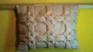 Декоративная подушка буфы, схема Квадраты урок1.