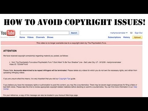 How To AVOID copyright strikes and use music in your video | Tutorial avoid copyright