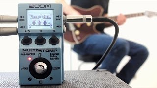 Zoom MS-70CDR Chorus/Delay/Reverb Multistomp - Full Mix Demo & Playthrough