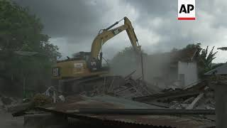 Indonesia - Earthquake and landslide on Lombok. Volcanic eruptions on Bali. Tsunami on Sulawesi