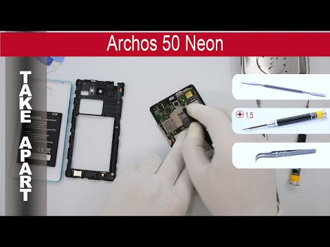 How to disassemble 📱 Archos 50 Neon, Take Apart, Tutorial