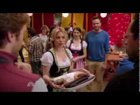 Alison Brie and Gillian Jacobs wearing dirndls