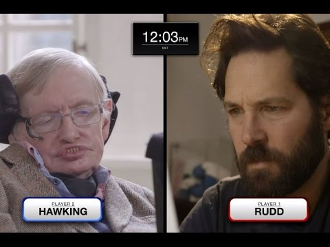 Stephen Hawking faces Paul Rudd in epic chess match feat. Keanu Reeves