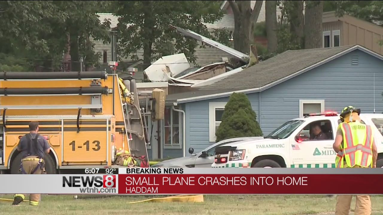 Plane crashes into house in Haddam - YouTube on plane crash into home, chicago plane crashes into home, private plane crashes into home, miami car crashes into home, colorado plane crashes into home, small plane going down,