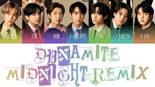 BTS (방탄소년단) - Dynamite (Midnight Remix) Color Coded Lyrics