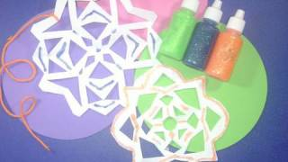 How Make Glittery Paper Snowflakes - Ep