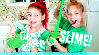 DIY How to Make the BEST Slime | St  Patrick's Day Edition Annie and Hope JazzyGirlStuff Top 10 Video