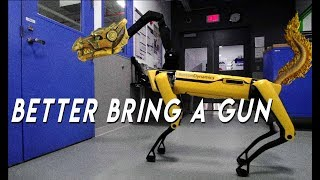 Robotic Dog Fights Human: You'll Need Your Guns, VERY SOON