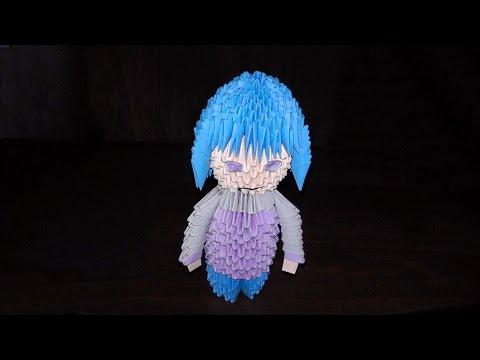 Оригами из бумаги схема кукла