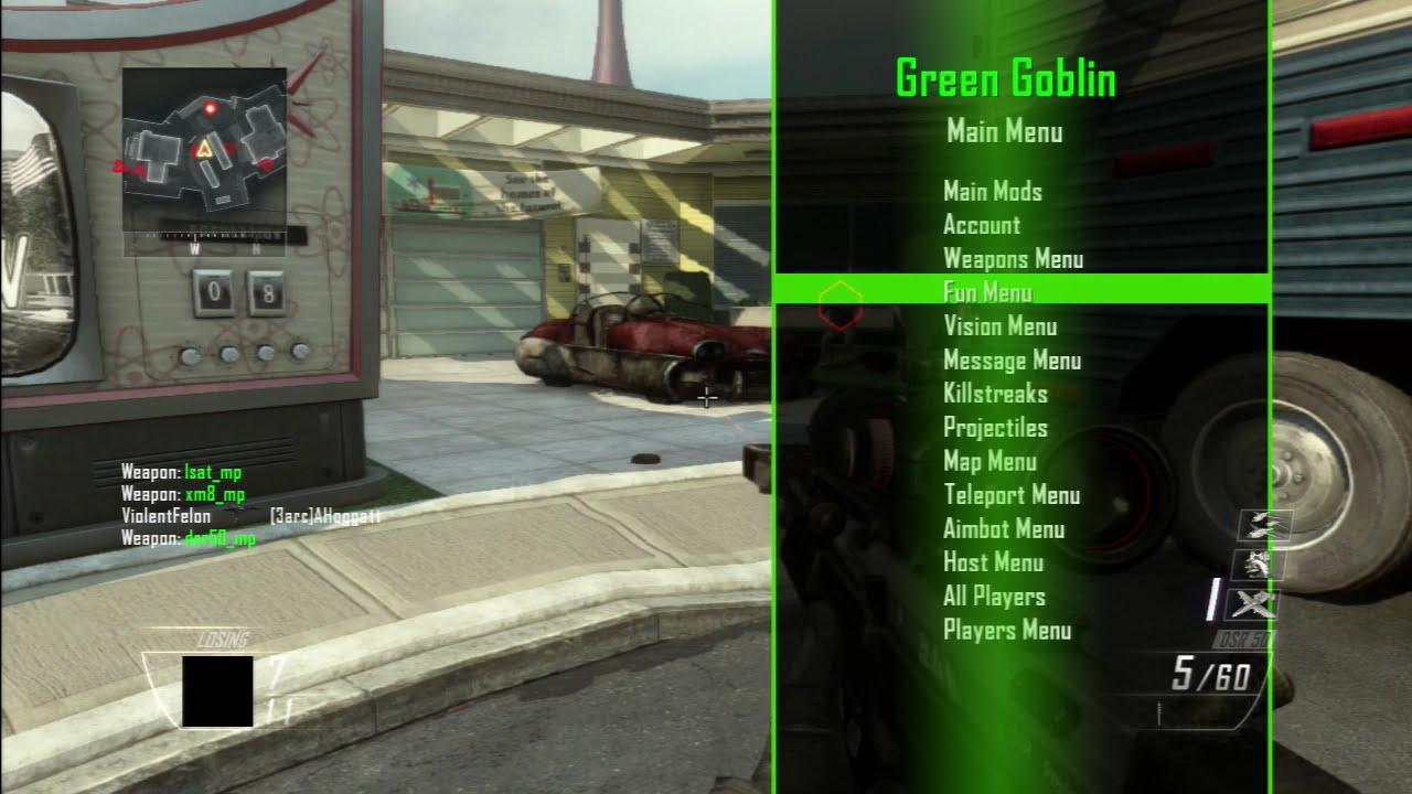[Bo2/1 18/Ps3] SouthSideModder & xFelonyModz Green Goblin GSC Mod Menu  [Preview]