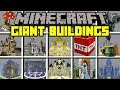 Minecraft GIANT BUILDINGS MOD! | SPAWN GIGANTIC STRUCTURES, HOUSES, & MORE! | Modded Mini-Game