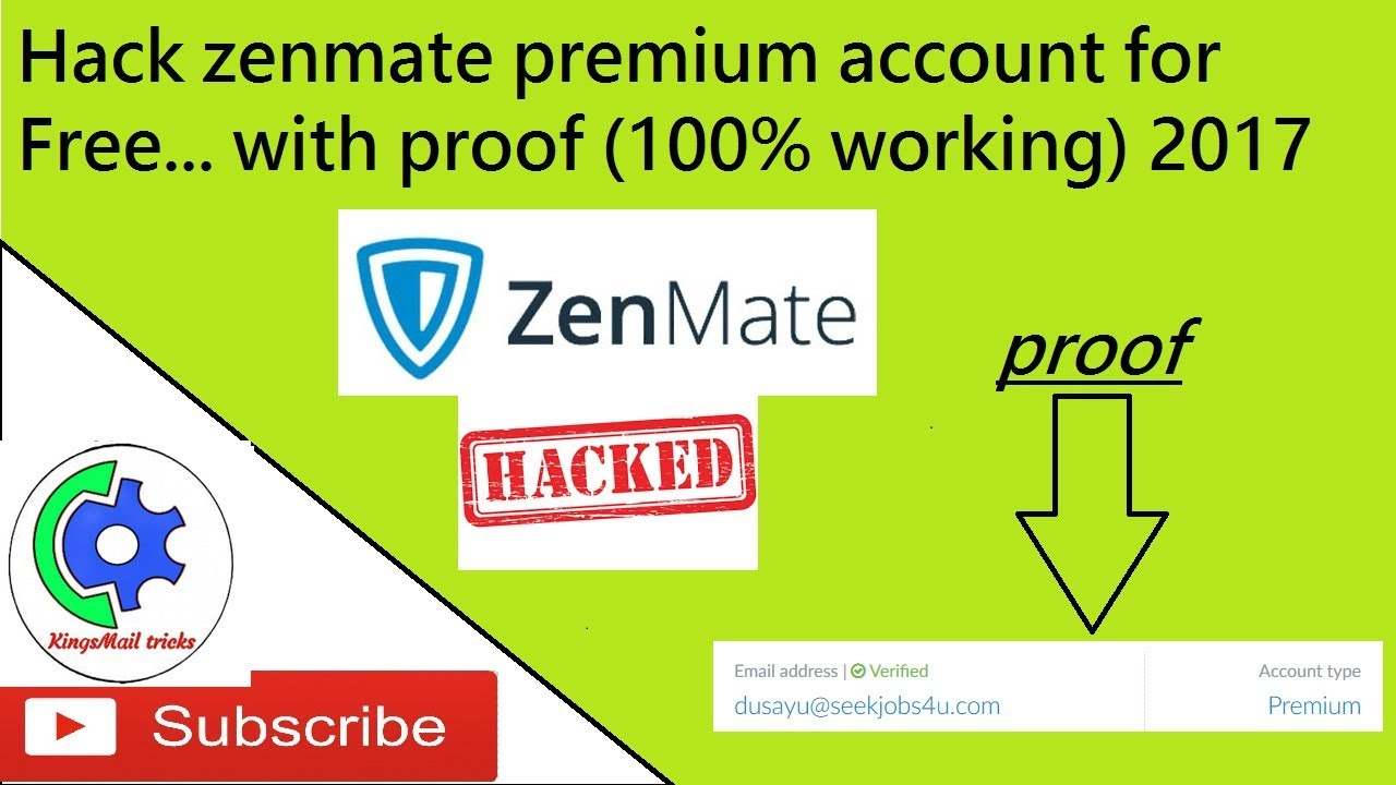 How Get Zenmate Premium Account For Free (100% working) 2017