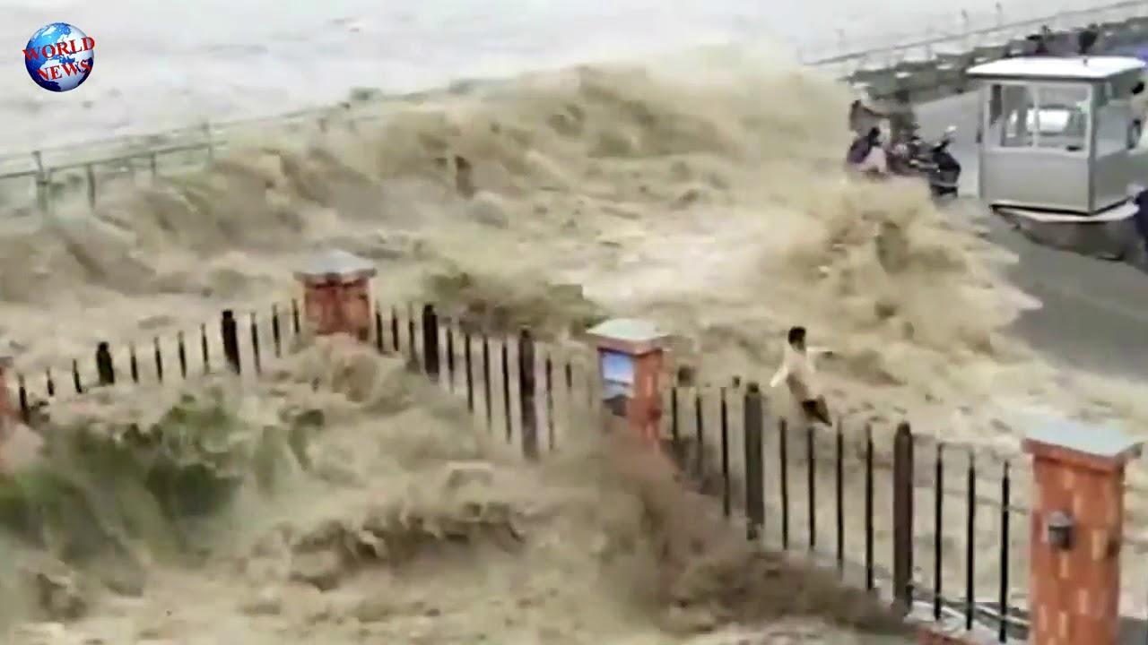 increible tsunami en china real 7