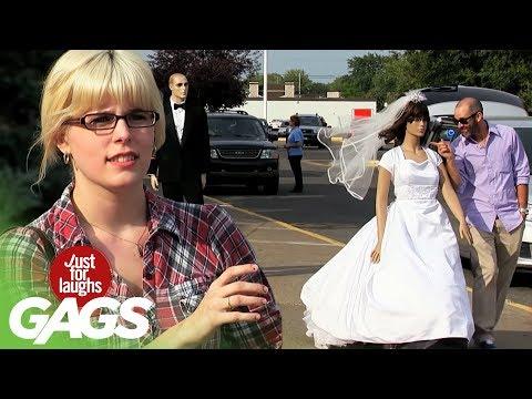 Runaway Mannequin Bride Prank