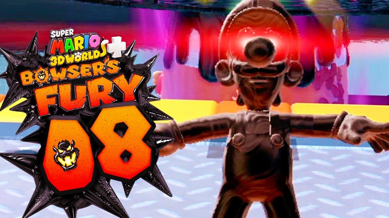 Download WUTSCHATTEN LUIGI auf Riskanten Röllchenhöhen! Super Mario 3D World + Bowser's Fury Part 8 Deutsch