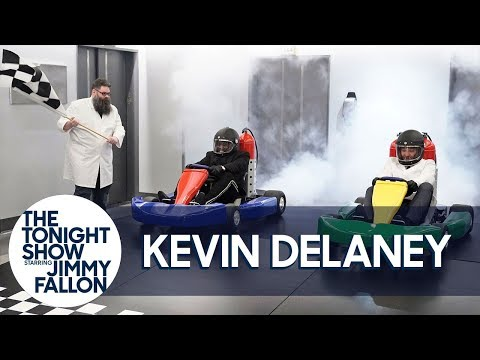 Phill Kross - Kevin Delaney Helps Jimmy Fallon Race a CO2-Powered Go-Kart!