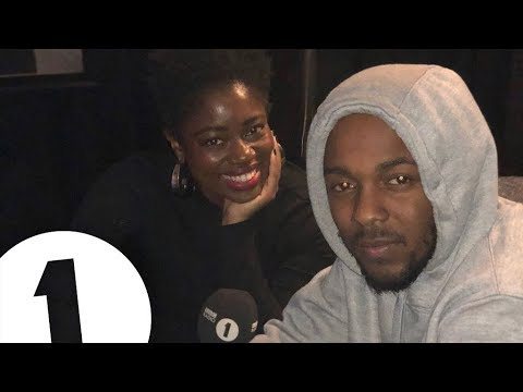 Kendrick Lamar backstage in London with Clara Amfo