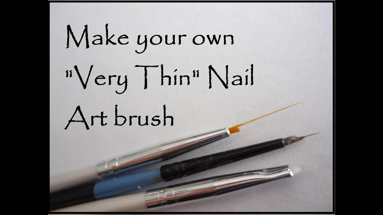 DIY Thin Nail Art Brush - YouTube