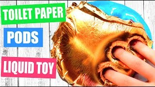 Testing No Glue Paper SLIME  / Pod SLIME / LIQUID TOY/ Will it Slime? Satisfying slime video
