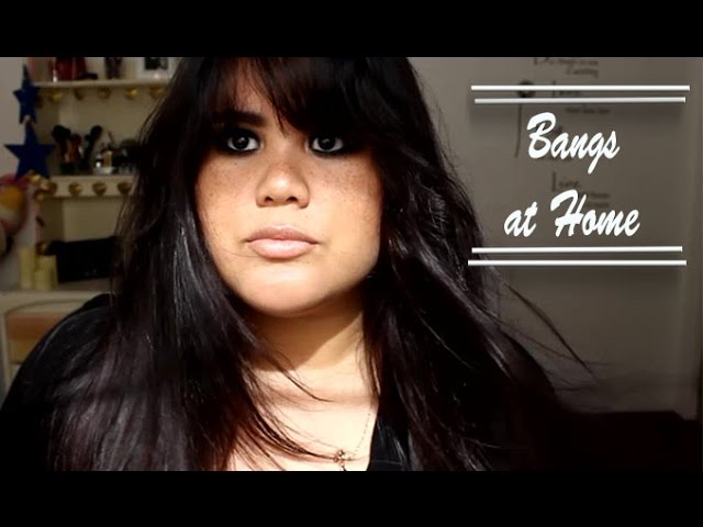 How To Cut Bangs For A Round Face Shape Diy Youtube
