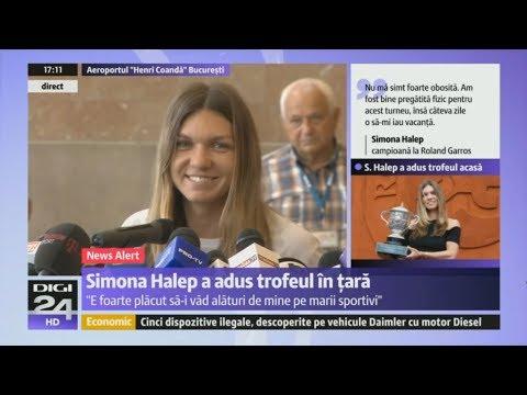Simona Halep & Her Precious Trophy Bucharest Arrival ~ Press Conference / Conferinta De Presa